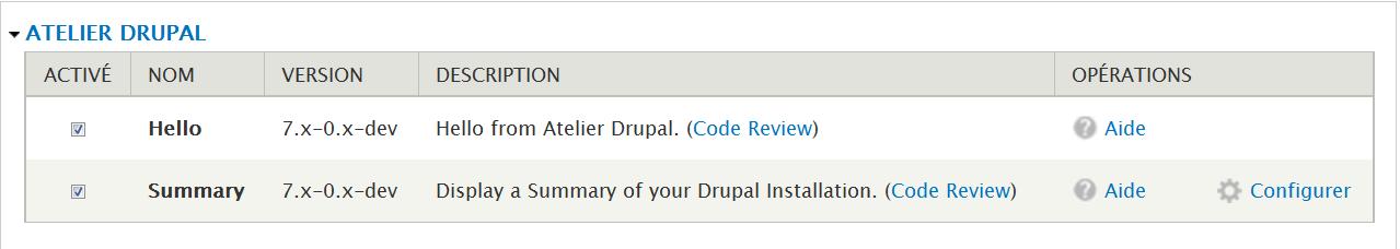 Atelier Drupal 7